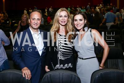 "Kuwait Amb. Salem Al-Sabah and Rima Al-Sabah, CBS Foreign Affairs Correspondent Margaret Brennan. Photo by Tony Powell. ""Salam Neighbor"" Screening and Reception. June 20, 2015"