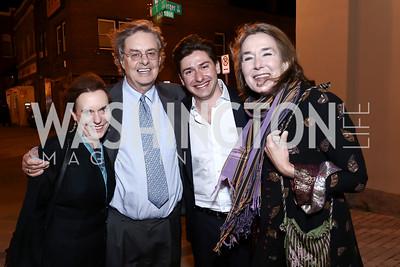 Constance Bruce, Andrew Cockburn, Max Van Praag, Leslie Cockburn. Photo by Tony Powell. Sasha Bruce 40th Anniversary Gala. Howard Theatre. April 22, 2015