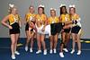 Varsity cheer seniors at camp.