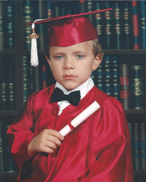 Brandon Thomasson - First Grade Cap and Gown 600 dpi