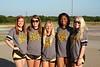 Senior cheerleaders leaving for camp.