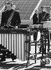 Percussionists on the field - Gonzo, Aaron Henson