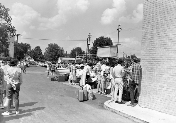 High School Band students pack for a trip in 1965. Were you on the trip? Share your memories under the photo online a the Effingham Daily News Facebook page.