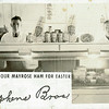 This old postcard shows the meat counter at Stephens Bros. grocery store in Effingham and bears an advertisement for Mayrose Hams. The postcard also includes a recipe on the back for Easter ham. The card was shared by Tim Stephens.