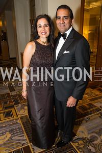 Manisha Kapani, Roy Kapani,. Photo by Alfredo Flores. Sibley Hope and Progress Gala. Four Seasons Hotel. October 17, 2015'