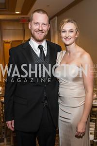 Drew Kellener, Jenn Kellener,. Photo by Alfredo Flores. Sibley Hope and Progress Gala. Four Seasons Hotel. October 17, 2015