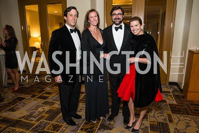 Austin Branson, Courtney Weir, Matthew Weir, Maisie Branson. Photo by Alfredo Flores. Sibley Hope and Progress Gala. Four Seasons Hotel. October 17, 2015