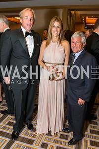Tom Sullivan, Rachel Sullivan, Allan Meltzer. Photo by Alfredo Flores. Sibley Hope and Progress Gala. Four Seasons Hotel. October 17, 2015