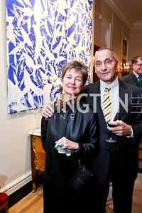 Dorothy Kosinski, Thomas Krahenbuhl. Photo by Tony Powell. Soiree to celebrate the re-opening of the Residence of France. February 27, 2015