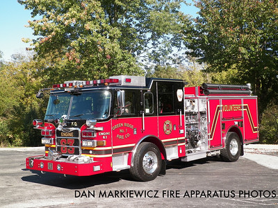 GREEN RIDGE FIRE CO. DELAWARE COUNTY ENGINE 63 2010 PIERCE PUMPER