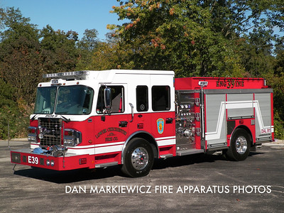 LOWER CHICHESTER FIRE CO. DELAWARE COUNTY ENGINE 39 2012 SPARTAN/CUSTOM FIRE PUMPER
