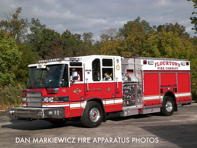 FLOURTOWN FIRE CO. MOTGOMERY COUNTY SQUAD 6 2009 PIERCE PUMPER/RESCUE
