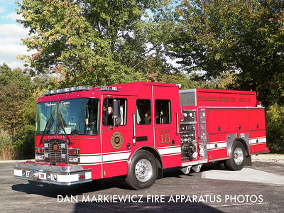 FOLSOM FIRE CO. DELAWARE COUNTY ENGINE 18 2010 HME/FERRARA PUMPER