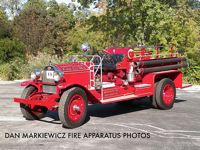 HARTSVILLE FIRE CO. BUCKS COUNTY ANTIQUE 1923 HALE PUMPER