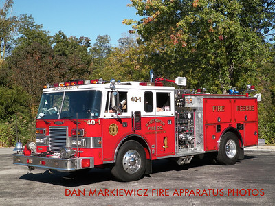 BOOTHWYN FIRE CO. DELAWARE COUNTY ENGINE 40-1 1989 PIERCE PUMPER