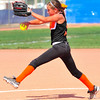 Lamar pitcher Laci Coen delivers a pitch in action against Santa Fe in the Colorado Babe 14 & Under State Tournament that was held over the weekend at the Lamar Softball Complex. Lamar won the state championship and advances to the Midwest Plains Regional Tournament that will also be played in Lamar this weekend.