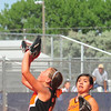 Lamar pitcher Laci Coen  catches a fly ball for the final out in action against Santa Fe in the Colorado Babe 14th 14 & Under State Tournament that was held over the weekend at the Lamar Softball Complex. Lamar won the state championship and advances to the Midwest Plains Regional Tournament that will also be played in Lamar this weekend.