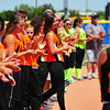 Players from the Lamar 16 & Under All-Star team are introduced during Opening Ceremonies prior to the state of the Colorado Babe 14 & Under State Tournaments held over the weekend at the Lamar Softball Complex. Both the Lamar 14 & Under and 16 & Under All-Stars captured state titles and advance to the Midwest Plains Regional Tournament that will also be played in Lamar this weekend.