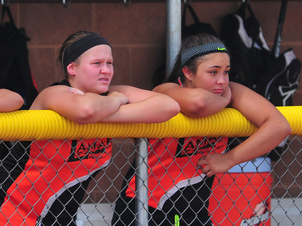Lamar players on the 16 & Under All-Star team take in the action during the Colorado Babe Ruth 16U State Tournament held in Lamar.