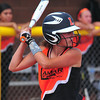 Lamar's Maddie Buxton concentrates at the plate during action in the Colorado Babe Ruth 14U State Tournament held on July 10-12 in Lamar.