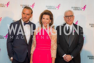 Matt Goss, Nancy Brinker, David Rubenstein, Susan G. Komen, Honoring the Promise, Kennedy Center, Sept 24, 2015, photo by Ben Droz.