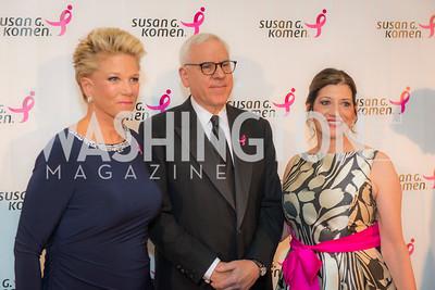 Joan London, David Rubinstein, Robin Heller, Susan G. Komen, Honoring the Promise, Kennedy Center, Sept 24, 2015, photo by Ben Droz.