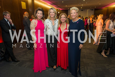 Nancy Brinker, Deborah Norville, Rep Debbie Wasserman Schultz, Joan London, Susan G. Komen, Honoring the Promise, Kennedy Center, Sept 24, 2015, photo by Ben Droz.