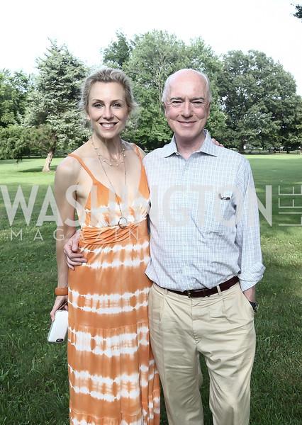 Katherine and David Bradley. Photo by Tony Powell. Tech Day by the Bay. Glass Residence. Juky 12, 2015