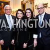 John and JoAnn Mason, Jaclyn Mason, Sean Randall. Photo by Tony Powell. Robin Givhan Book Party. Residence of France. March 24, 2015
