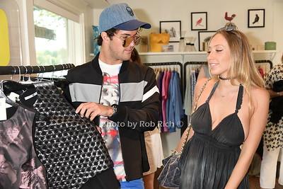 Designer Andrew Warren and actress Gaia Matisse photo by Rob Rich/SocietyAllure.com © 2015 robwayne1@aol.com 516-676-3939