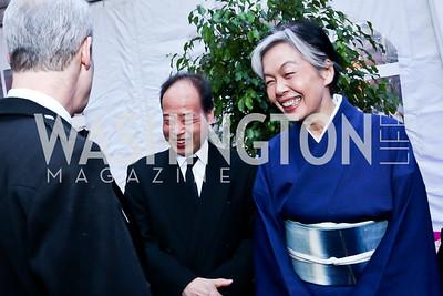 Shigeki and Shihoko Fukumoto. Photo by Tony Powell. Textile Museum Grand Re-opening. March 19, 2015