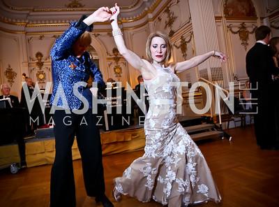 Kathie Olsen, Barbados Ambassador's wife, Leila Beale. Photo by Tony Powell. The Russian Ball. January 10, 2015