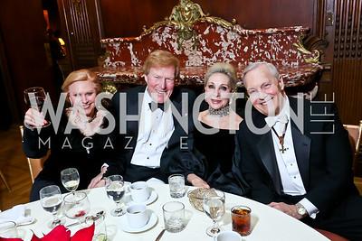 Olga and Bob Ryan, Rosemarie Bogley, Robert Heggestad. Photo by Tony Powell. The Russian Ball. January 10, 2015