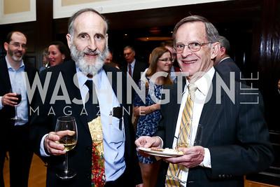 Professor Jerome Dancis, Gary Ratner. Photo by Tony Powell. The Twelfth Annual Ridenhour Prizes. National Press Club. April 29, 2015