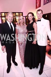 Mark and Lyn McFadden, Kristin Cecchi, John Cecchi. Photo by Tony Powell. 2015 WB Swan Ball. Residence of Germany. May 1, 2015