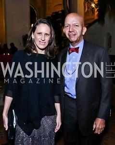Argentina Amb. Cecilia Nahón, Former DC Mayor Tony Williams. Photo by Tony Powell. TWC An Argentine Carnaval Gala. OAS. February 17, 2015