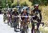 Daniel Teklehaimanot leads the escape up the Col de Saint-Michel with a seven-minute advantage...