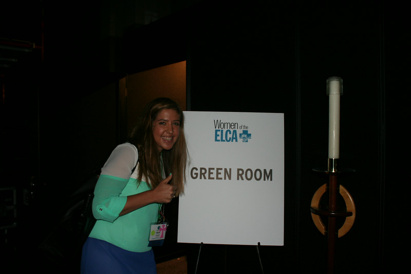 Ninth Triennial Gathering | Social media volunteer, Heidi Johnson, gets a closer look at the green room backstage