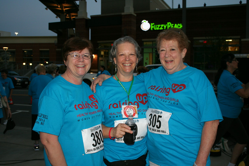 Ninth Triennial Gathering | Sophia Carr (left), Newalla, OK, Carol Court, Winters, TX and Jackie Wilson, Hot Springs, AR pose before the start of the Run, Walk and Roll.
