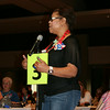 Ninth Triennial Convention | Freddie Jordon, 6F, offers a comment at the microphone.