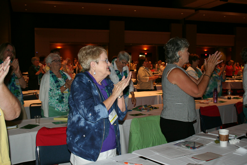 Ninth Triennial Convention | Bishop Eaton receives a standing ovation following her talk