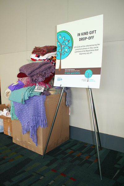 Ninth Triennial Convention | Delegates collect In-Kind gifts for local organizations