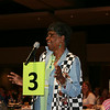 Ninth Triennial Convention | Dorothy Nevils, 6C, makes a comment after Presiding Bishop Elizabeth Eaton's talk.