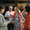 Ninth Triennial Convention | Esther Prabhakar, Northern Illinois, and other delegates greet ELCA presiding bishop Elizabeth Eaton. JV