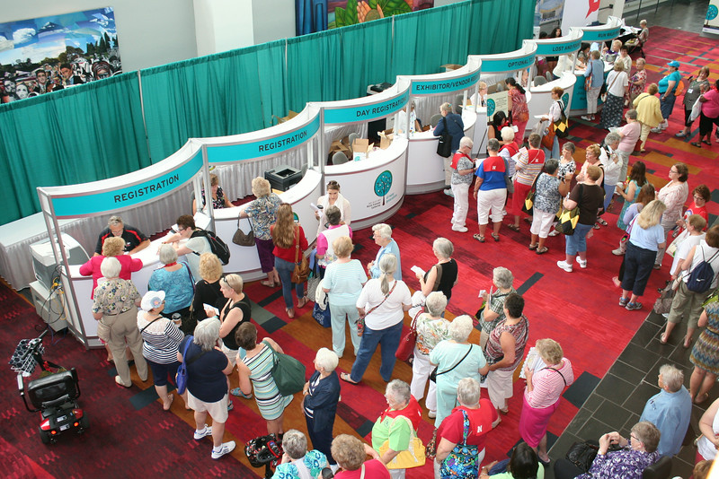 Ninth Triennial Convention | Delegates register for the Triennial Gathering