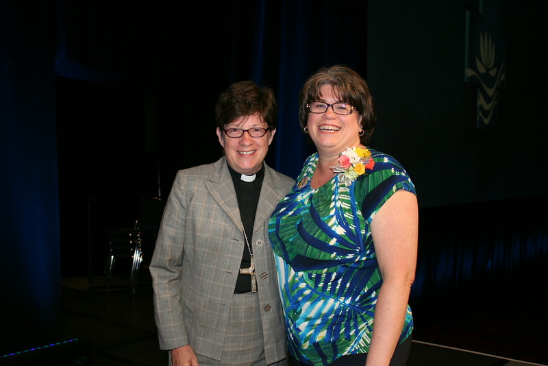 Ninth Triennial Convention | Bishop Eaton and Jenny Michael after the close of the convention