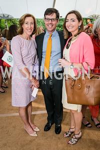 Gay Truscott, Jamie Wickett, Jessica Blake. Photo by Alfredo Flores. Tudor Place Garden Party. Tudor Place. May 20, 2015