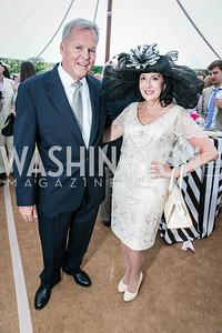 Bill Buczany, Liz Sara. Photo by Alfredo Flores. Tudor Place Garden Party. Tudor Place. May 20, 2015