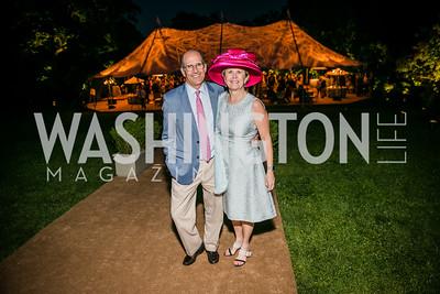 Gordon Dale, Connie Carter. Photo by Alfredo Flores. Tudor Place Garden Party. Tudor Place. May 20, 2015