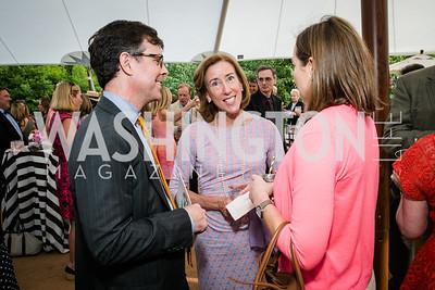Jamie Wickett, Gay Truscott, Jessica Blake. Photo by Alfredo Flores. Tudor Place Garden Party. Tudor Place. May 20, 2015